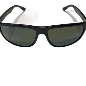 RAY-BAN Men's Black Nylon Polarized Sunglasses